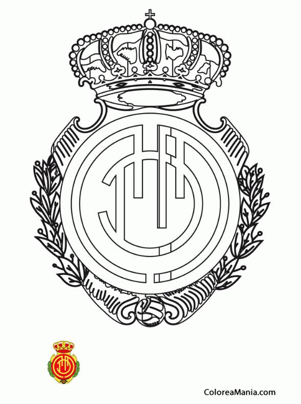 Colorear Mallorca Real Club Deportivo (Escudos equipos de Fútbol ...