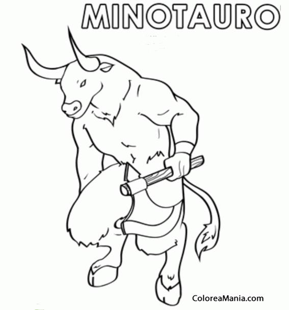 Colorear Minotauro se escribe (Animales Fantsticos