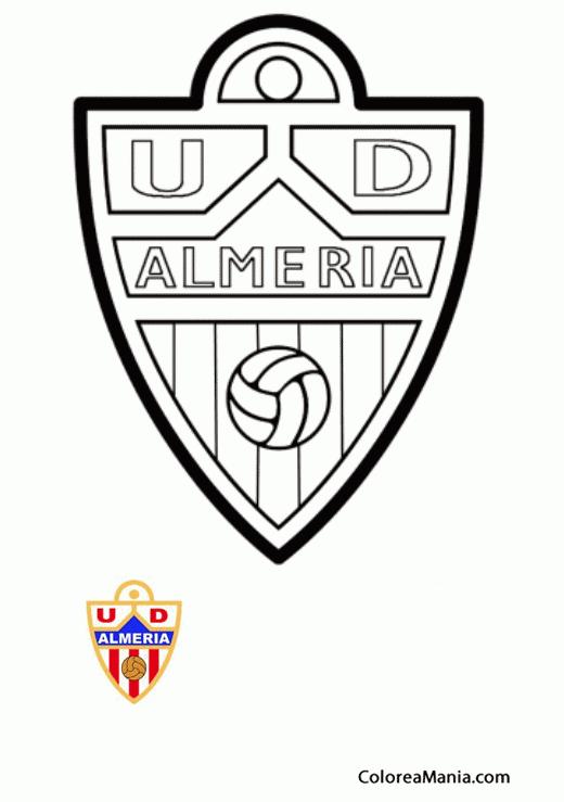 Colorear Unión Deportiva Almeria (Escudos equipos de Fútbol), dibujo ...