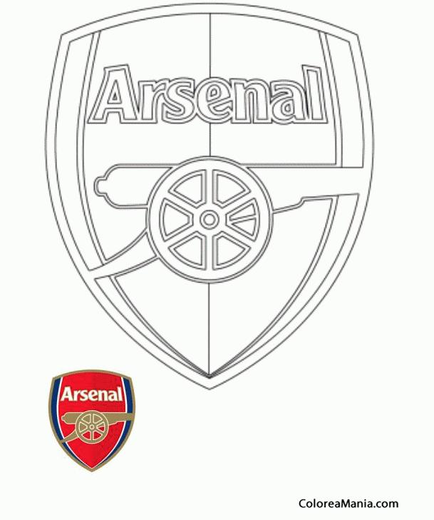Colorear Arsenal (Escudos equipos de Fútbol), dibujo para colorear ...
