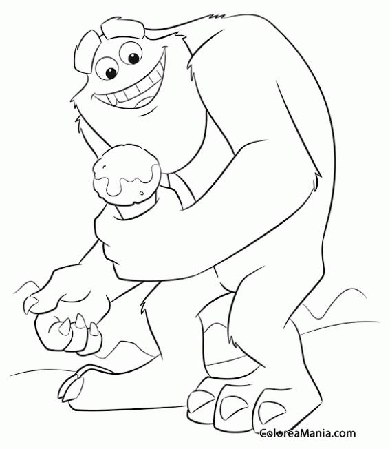 Colorear Yeti con un helado (Animales Fantásticos), dibujo para ...
