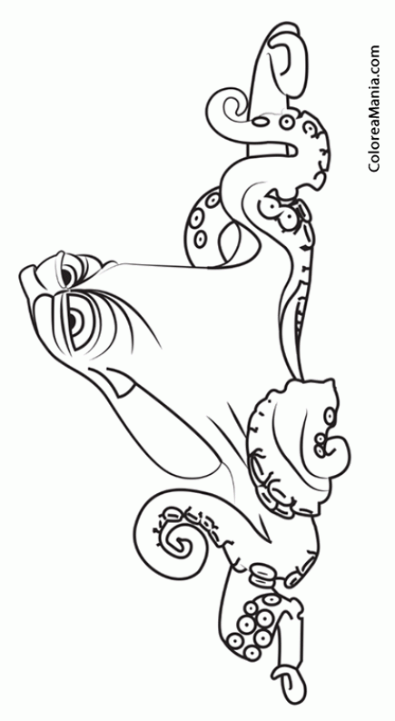 Colorear Hank De Buscando A Dory Buscando A Dory Dibujo