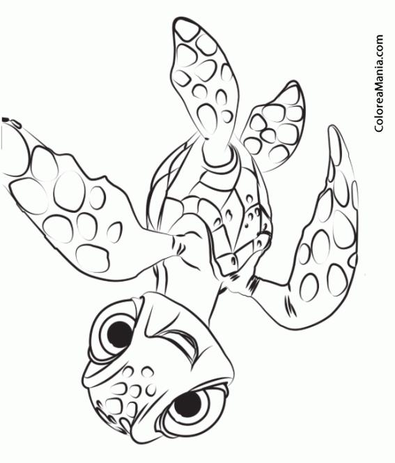 Colorear Squirt Tortuga De Buscando A Dory Buscando A Dory