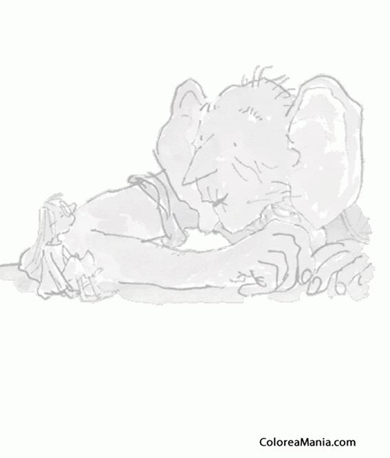 Colorear Mi amigo el gigante (Mi amigo el Gigante), dibujo para ...