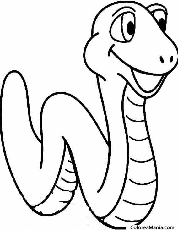 Lujo Página Para Colorear De Una Serpiente Componente - Ideas Para ...