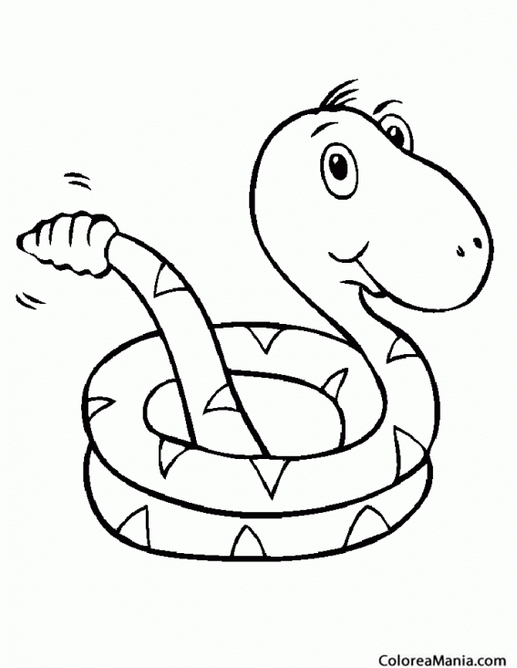 Dibujo Serpiente Para Colorear. Affordable Colorear Serpiente Cabeza ...