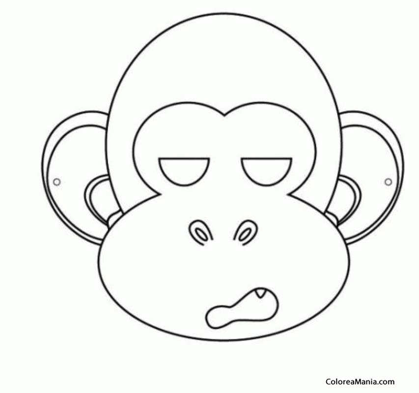 Atractivo Colorear De Chimpancé Cresta - Dibujos Para Colorear En ...