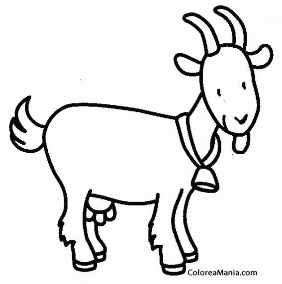 Colorear cabra con campanita animales de granja dibujo para colorear cabra con campanita altavistaventures Choice Image