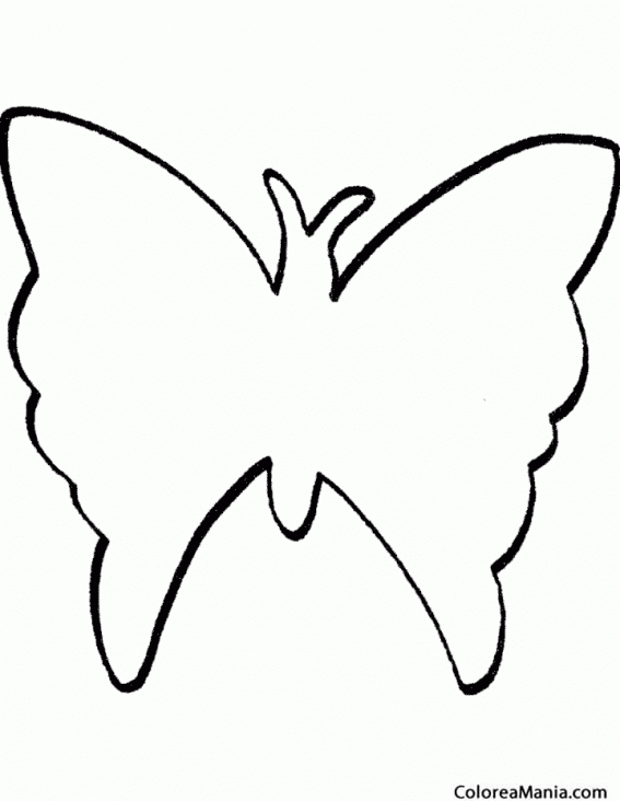 Colorear Silueta Mariposa (Insectos), dibujo para colorear gratis