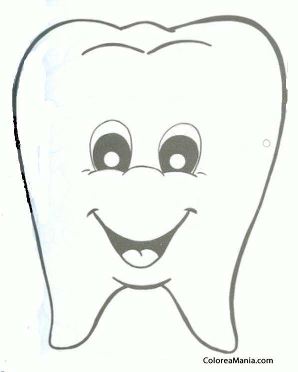 Colorear Careta De Muela Máscara Careta Antifaz Dibujo