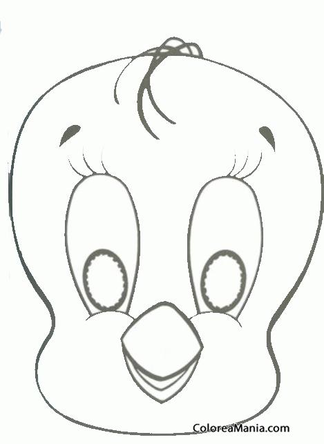 Colorear Piolin Máscara Careta Antifaz Dibujo Para Colorear Gratis