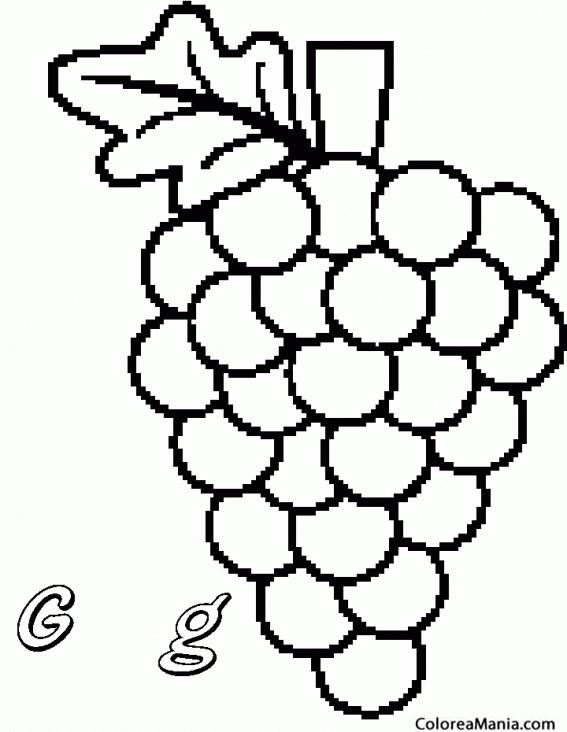 Colorear Perlette. uva de mesa apirena (Frutas), dibujo ...