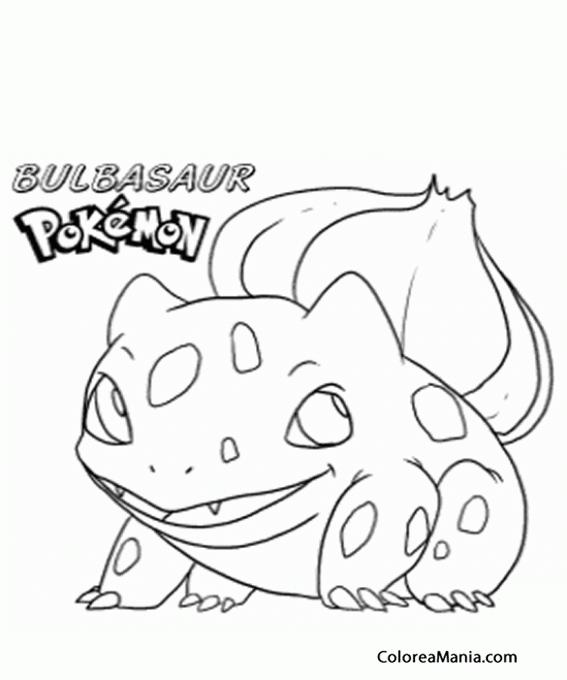Colorear Bulbasaur (Pokemon), dibujo para colorear gratis