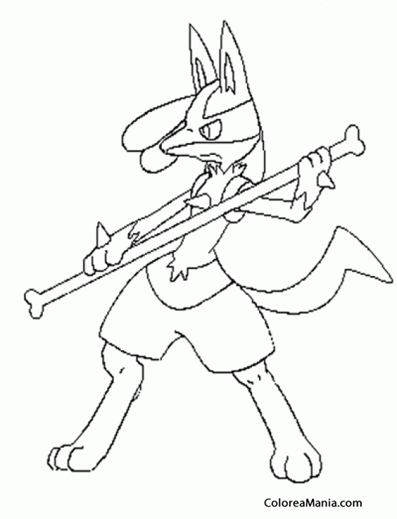 Colorear Lucario Pokemon Dibujo Para Colorear Gratis