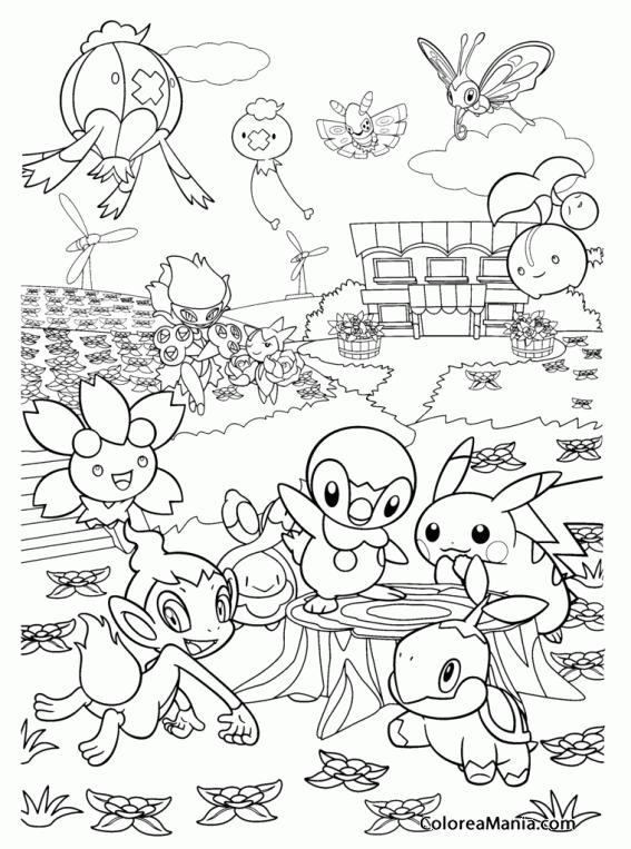 Colorear Amigos De Pokemon Pokemon Dibujo Para Colorear
