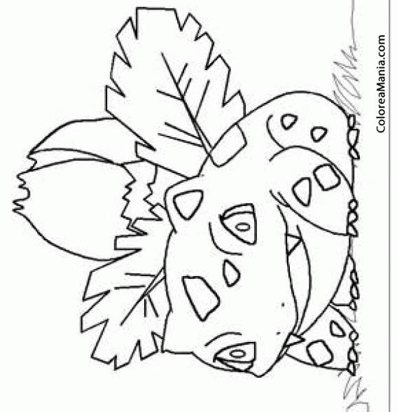 Colorear Ivysaur 2 (Pokemon), dibujo para colorear gratis