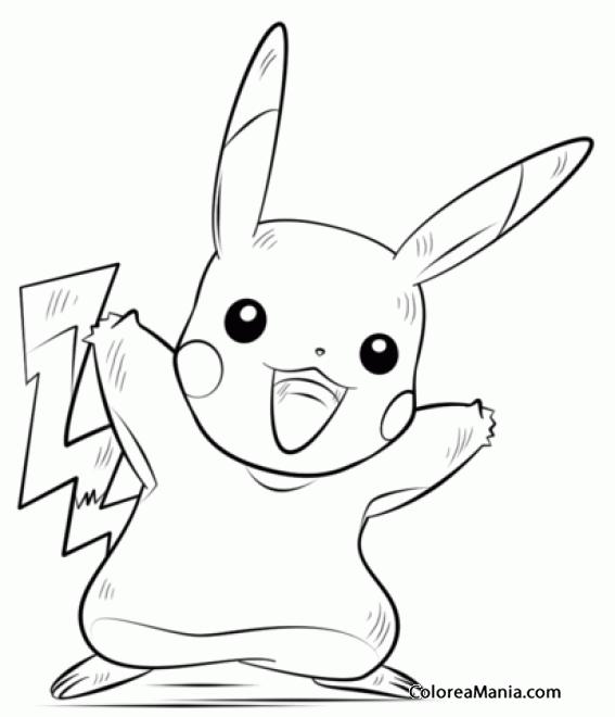 Colorear Pikachu Pokemon Pokemon Dibujo Para Colorear Gratis