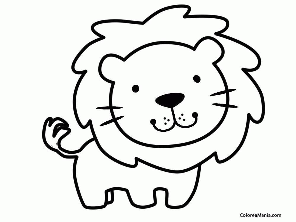 Colorear Leon 2 (Animales de la Selva), dibujo para colorear gratis