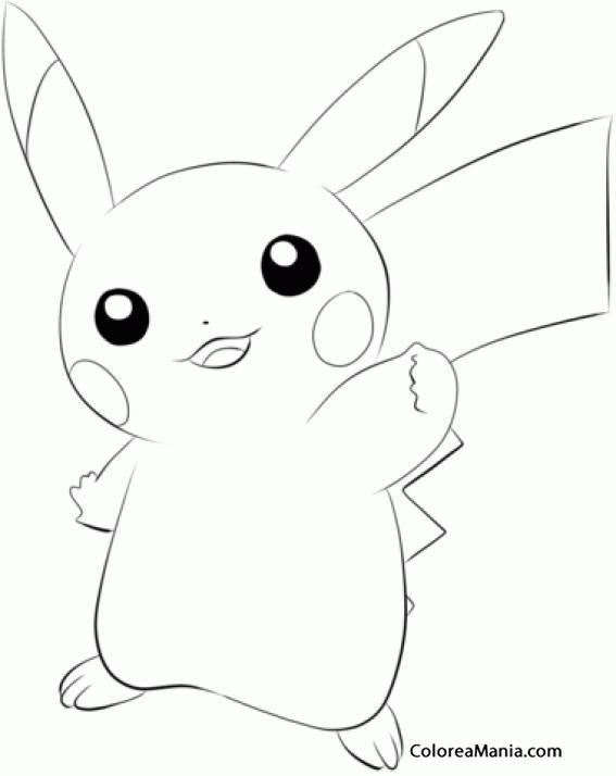 Colorear Pikachu Pokemon 2 Pokemon Dibujo Para Colorear Gratis