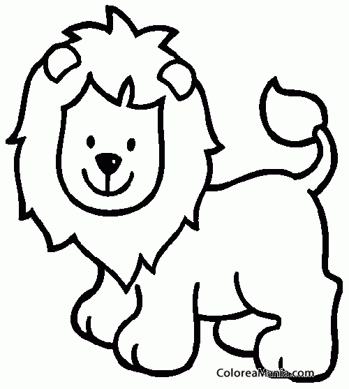 Colorear Leon Sonriendo Animales De La Selva Dibujo Para Colorear