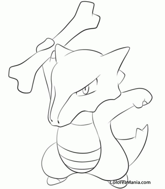 Colorear Marowak (Pokemon), Dibujo Para Colorear Gratis