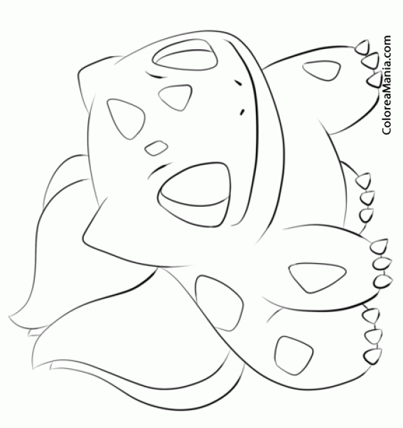 Colorear Bulbasaur 4 (Pokemon), dibujo para colorear gratis
