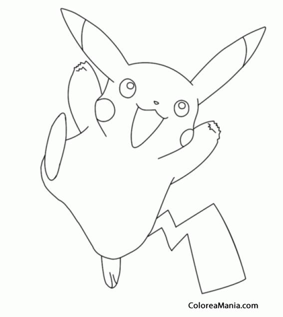 Colorear Pikachu Pokemon Dibujo Para Colorear Gratis