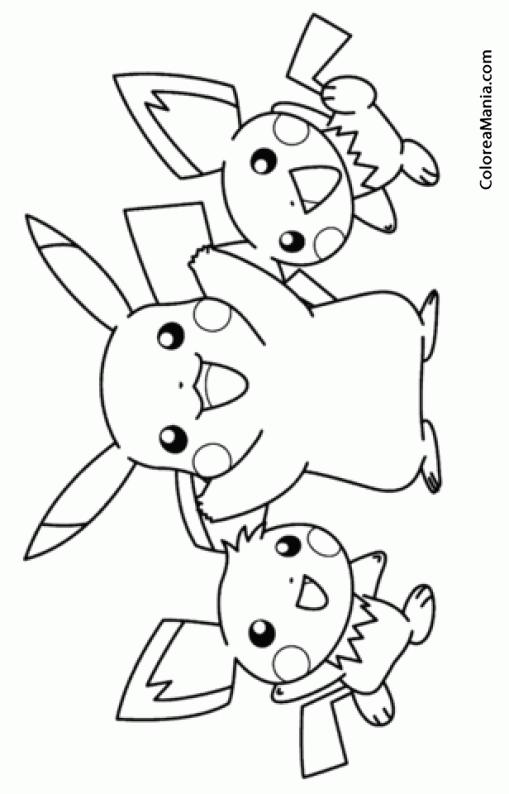 Colorear Pikachu Y Sus Amigos 2 Pokemon Dibujo Para Colorear Gratis