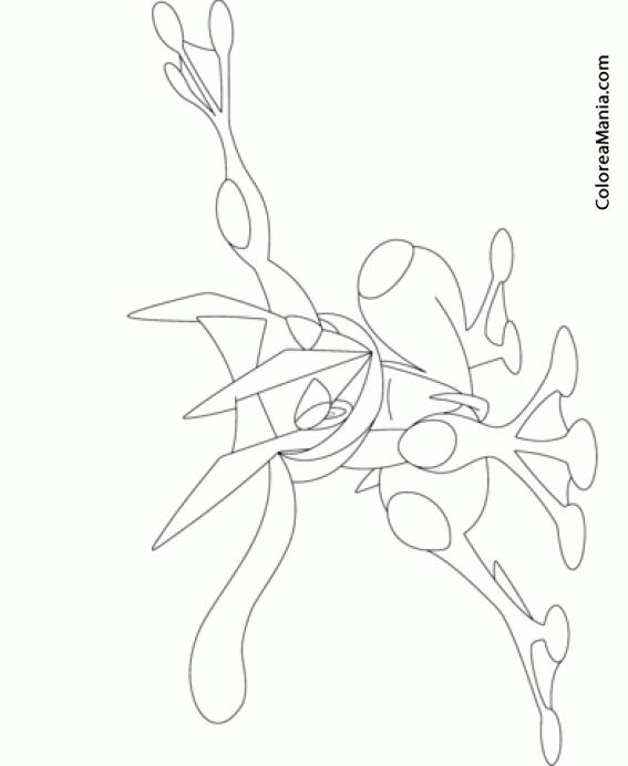Colorear Greninja (Pokemon), Dibujo Para Colorear Gratis