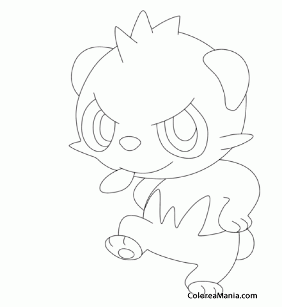 Colorear Pancham. Generation VI Pokemon (Pokemon), dibujo ...