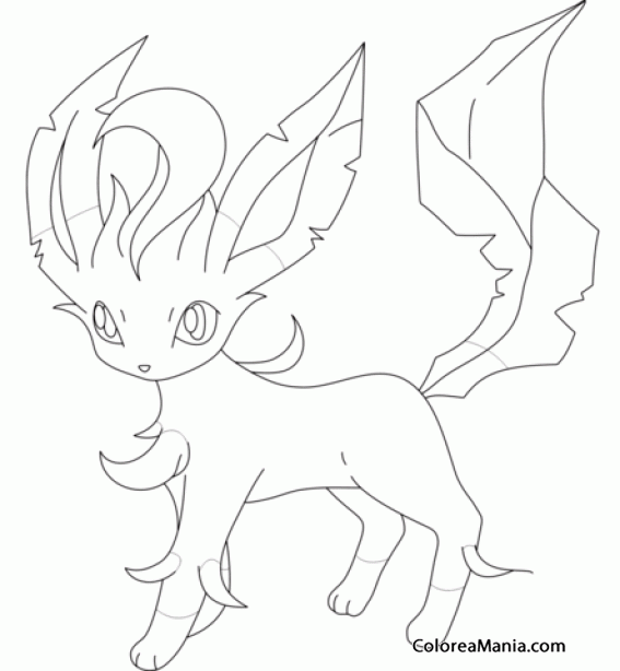Colorear Leafeon. Generation IV Pokemon (Pokemon), dibujo para ...
