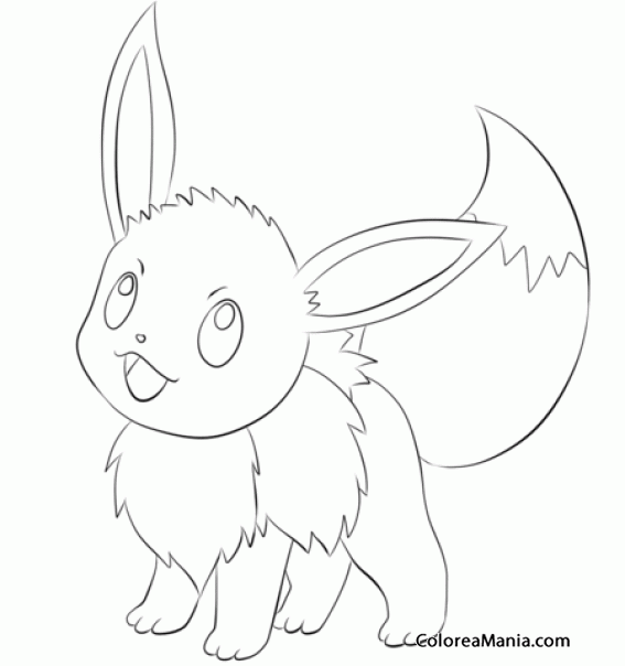 Colorear Eevee Generation Pokemon Dibujo