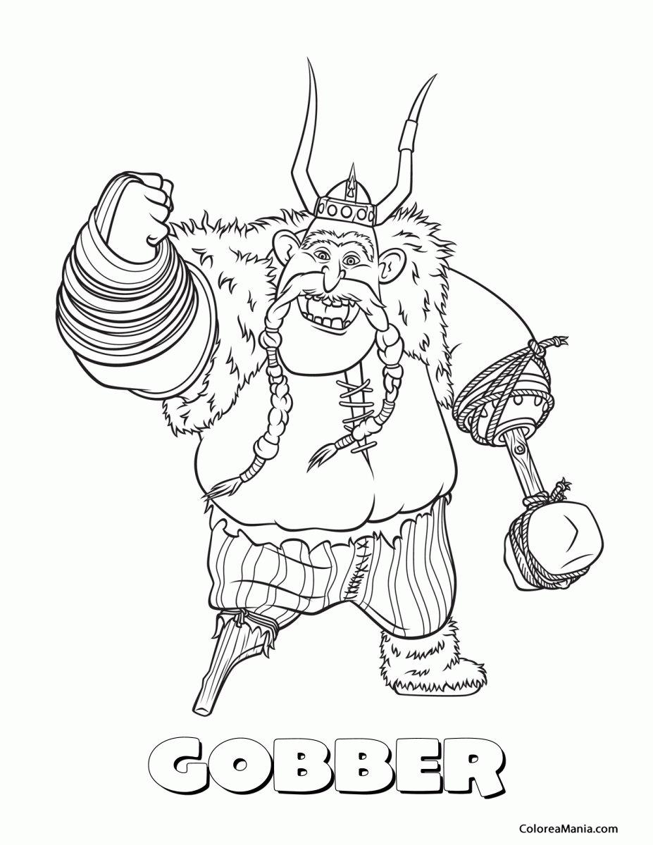 Colorear Bocón el Rudo (Cómo entrenar a tu dragón), dibujo para ...