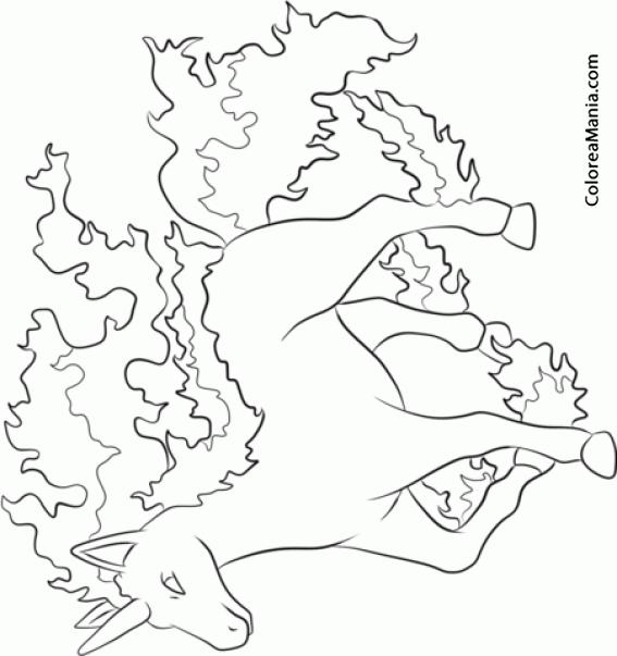rapidash coloring pages - photo#8