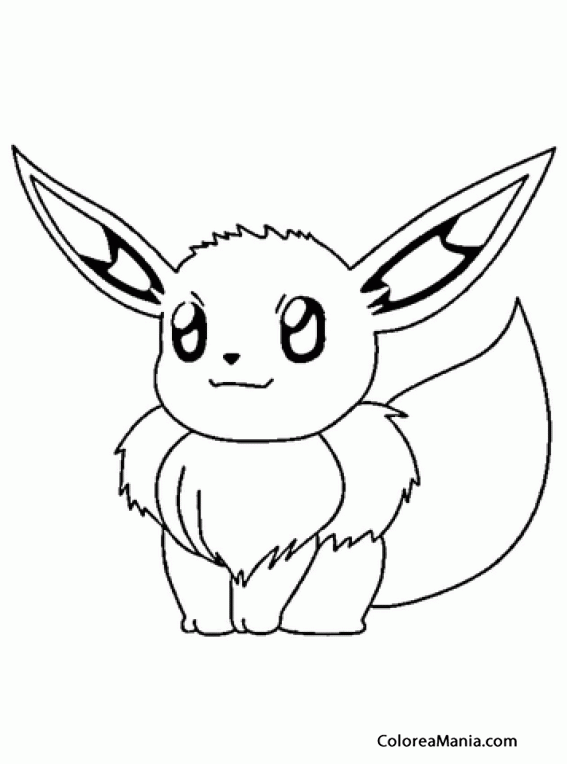 Colorear Eevee. Generation I Pokemon 2 (Pokemon), dibujo para ...