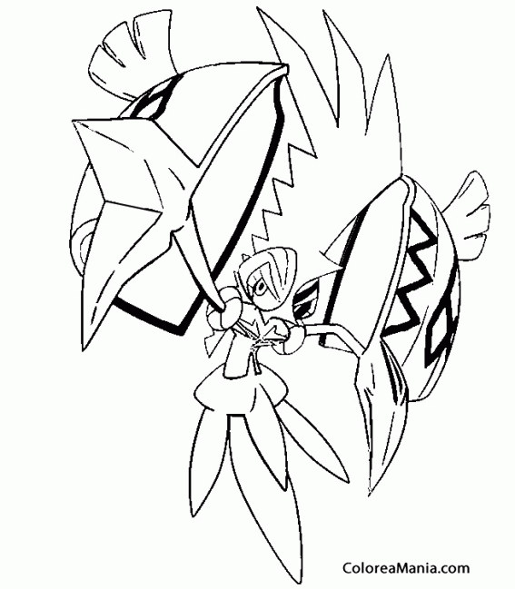 Colorear Tapu Koko. Pokemon Sol Y Luna (Pokemon), Dibujo