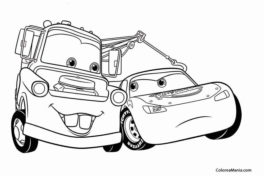 cars 2 dibujos para colorear e imprimir