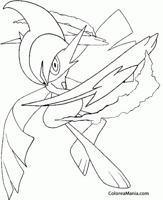 Colorear Mega Gallade Pokemon Dibujo Para Colorear Gratis
