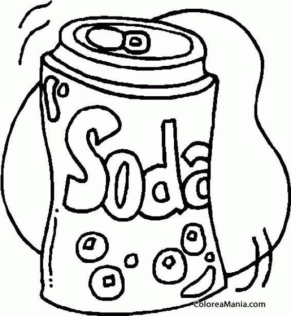 Colorear Lata De Soda Bebidas Dibujo Para Colorear Gratis