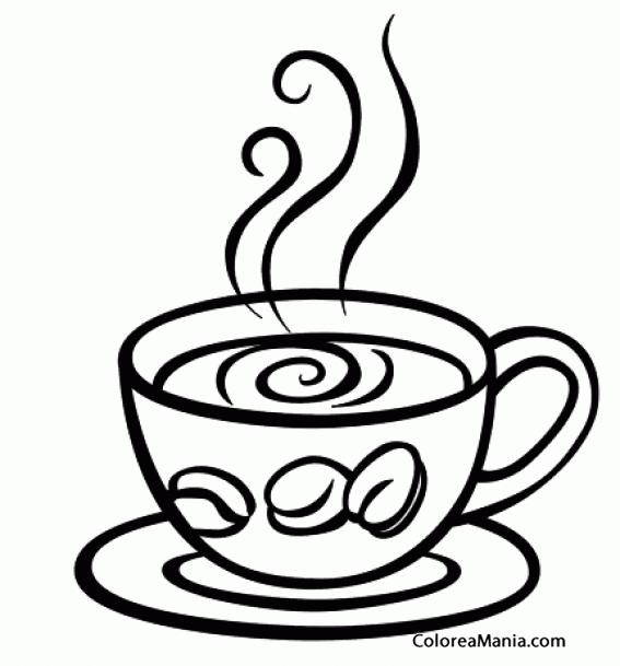 Colorear Taza De Café Expreso Bebidas Dibujo Para Colorear Gratis