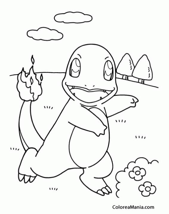 Colorear Charmander 3 Pokemon Dibujo Para Colorear Gratis