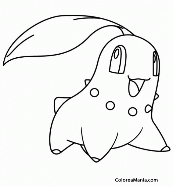 Colorear Germignon Chikorita Pokemon (Pokemon), Dibujo