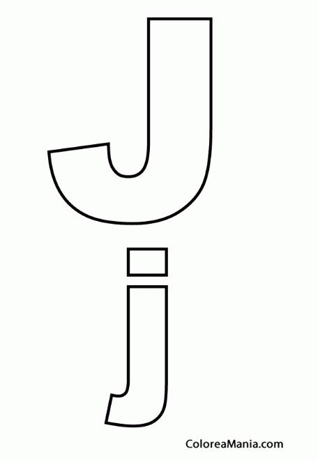 Colorear Letra J J Abecedarios Dibujo Para Colorear Gratis