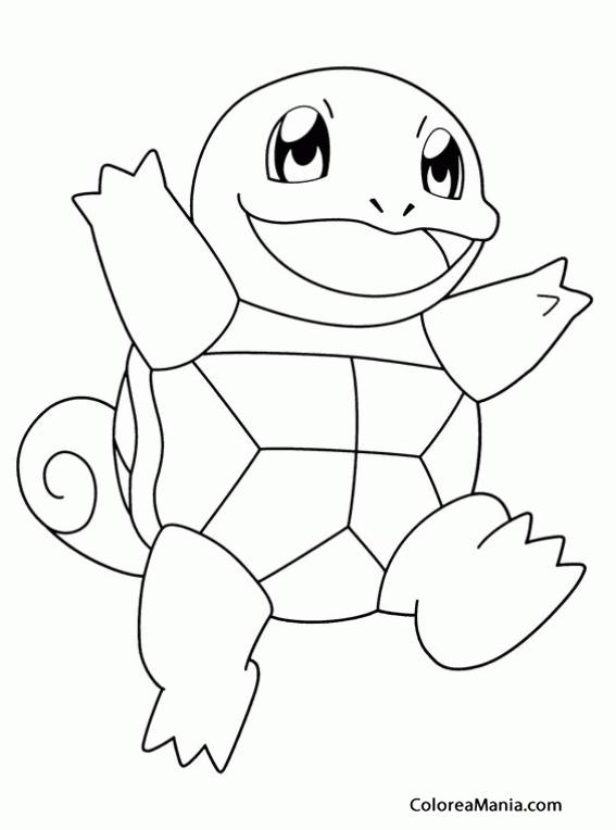 Colorear Pokemon Squirtle Pokemon Dibujo Para Colorear Gratis