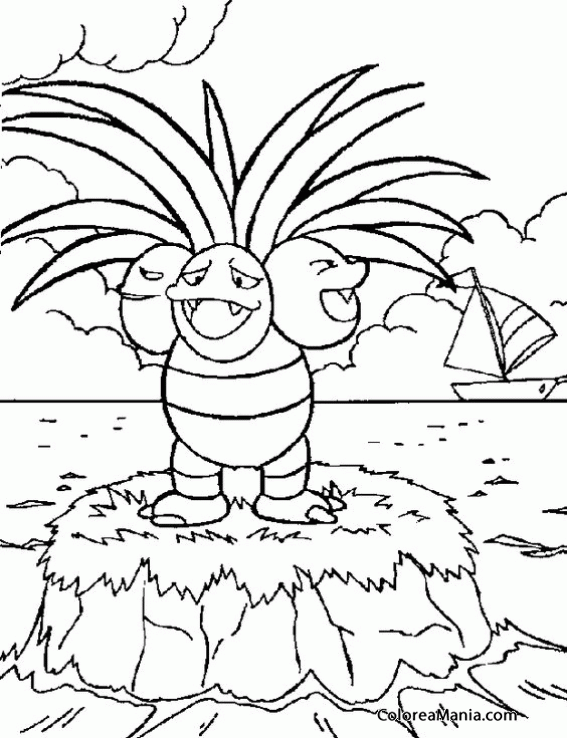 Exeggutor Coloring Page Coloring Pages