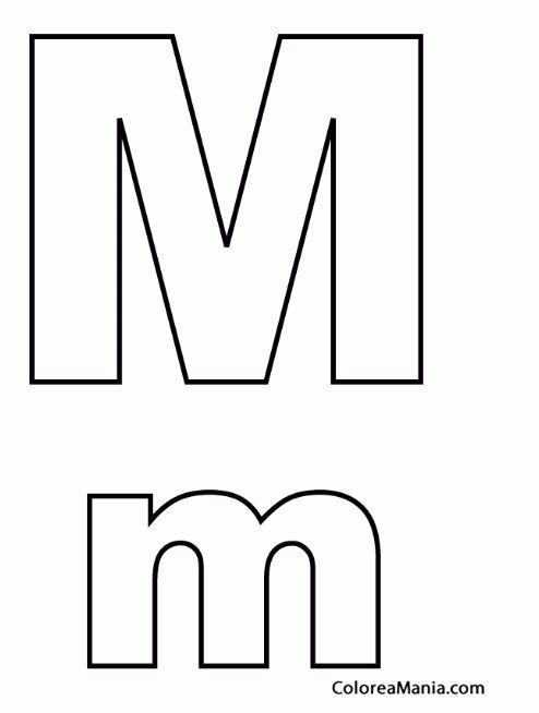 Colorear Letra M M Abecedarios Dibujo Para Colorear Gratis