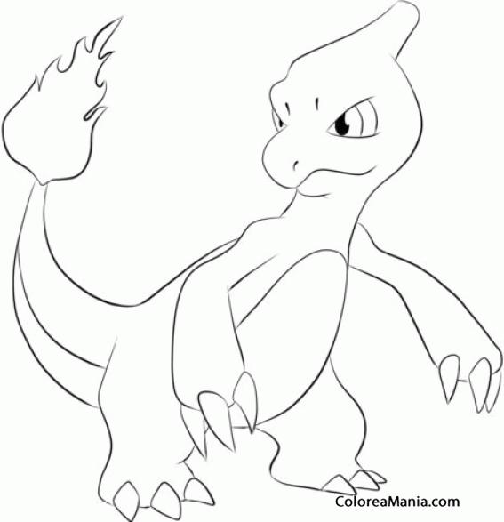Colorear Pokemon Charmeleon 2 Pokemon Dibujo Para