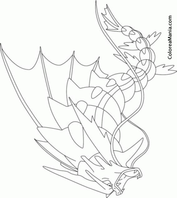 Colorear Pokemon Gyarados (Pokemon), Dibujo Para Colorear