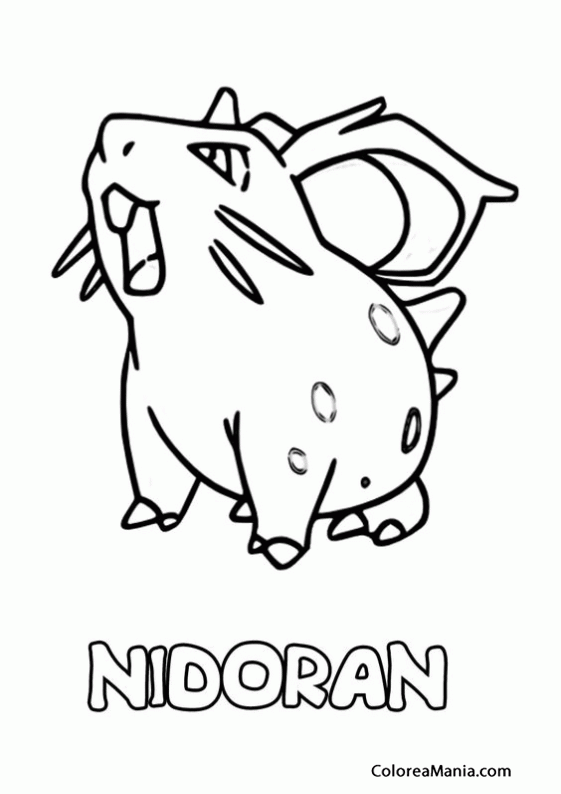 Pokemon Xyz Kleurplaat Colorear Pokemon Nidoran Pokemon Dibujo Para Colorear