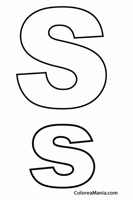Colorear Letra S S Abecedarios Dibujo Para Colorear Gratis